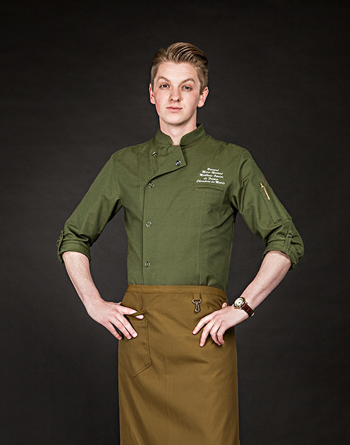 british organic chef coat khaki #AJ1643