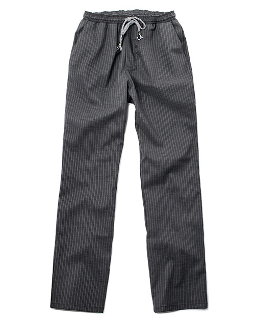 pencil striped chef pants charcoal #AP1665