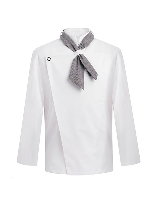 [SET] scarf slim chef jacket white #AJ1456