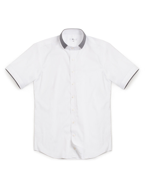 Howard short sleeves shirts white #AS1579