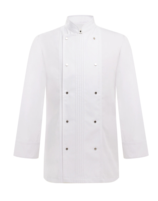 pin tuck wrinkle chef coat white #AJ1730