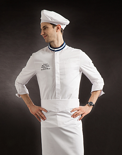 France Single chef coat basic #AJ1741