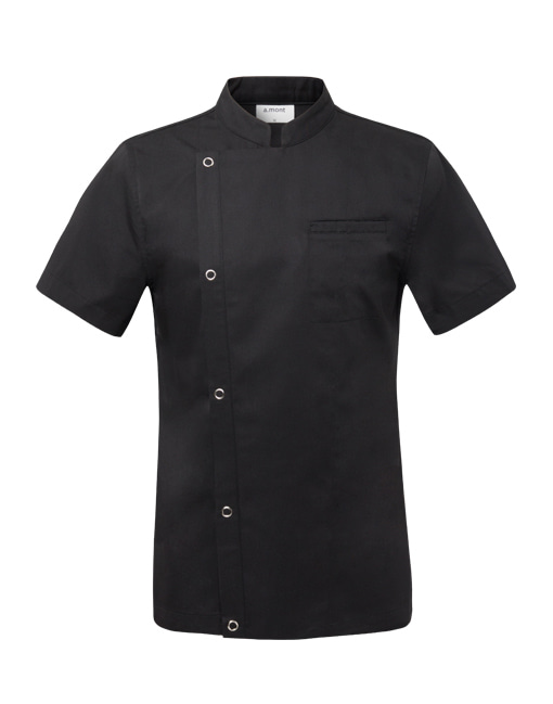 Basic 1/2 Chef Coat (Black) #AJ1528