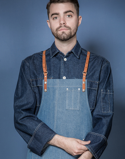 Two poket denim chef shirts #AJ1848
