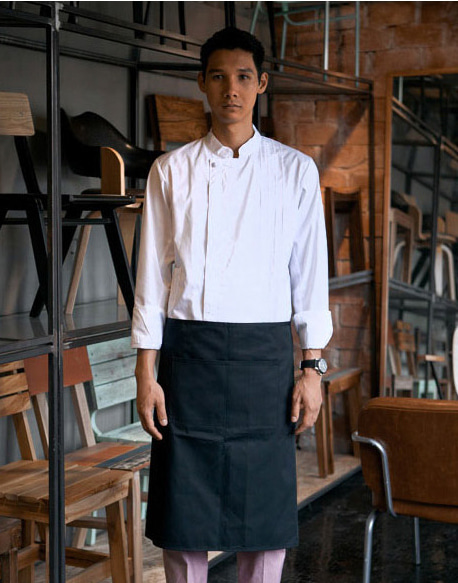basic waist apron black #AA1310