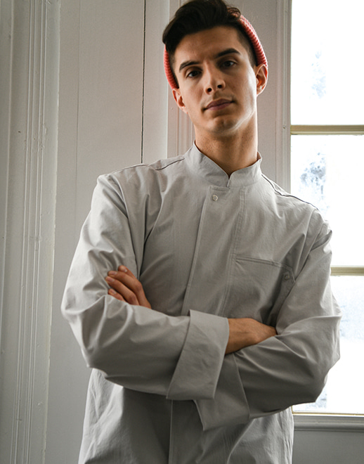 lamant stretch chef coat #AJ1955 grey
