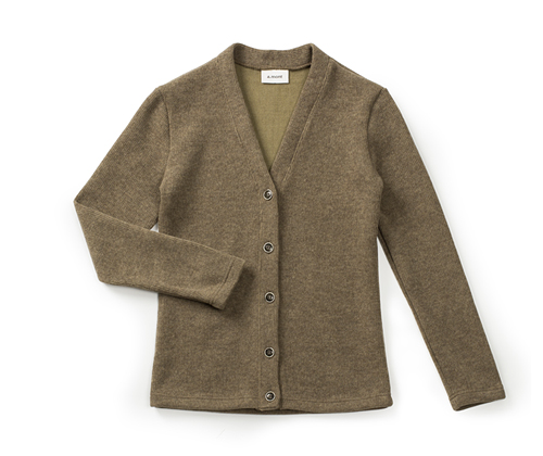 lambswool V-neck cardigan brown #AC1724