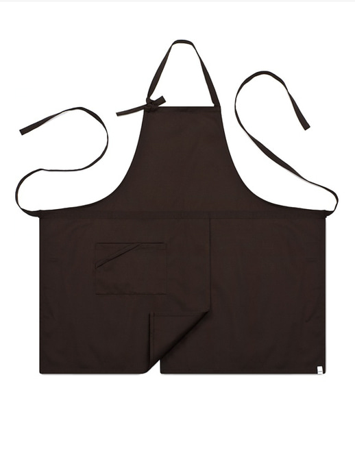 #AA1414 Basic chest Apron Brown
