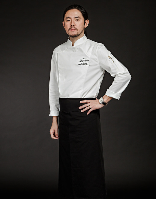 Slim Chef Jacket (White) #AJ1455