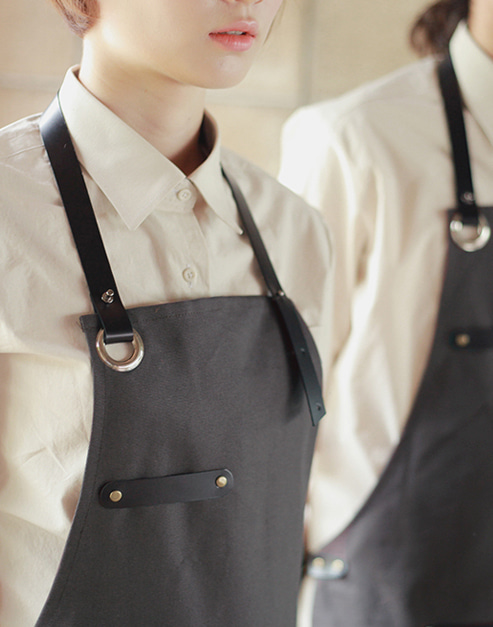 #AA1526 Modern real cow leather Apron