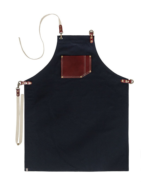 #AA1549 Roco real cow leather Apron Navy
