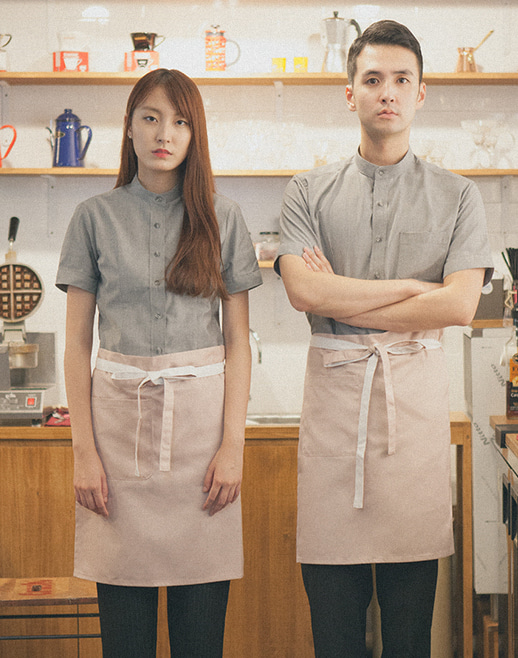 #AA1552 Le Coloration Apron Pink