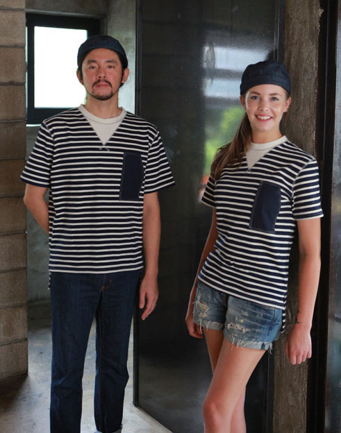 W Stripe T Shirts #At1558