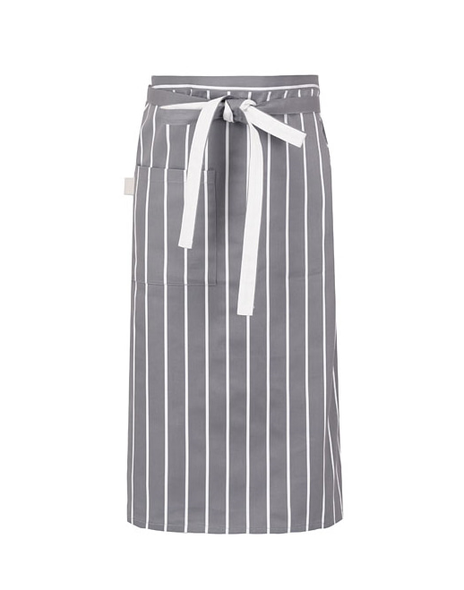 Block Striped Waist Apron Grey #AA1613