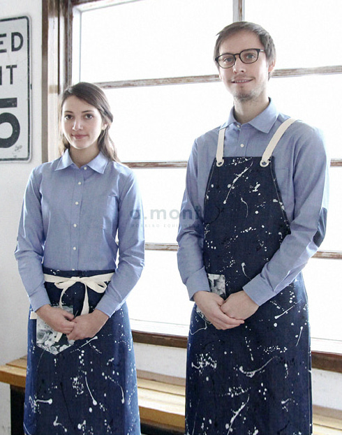 Painting Chest Apron Denim #AA1612