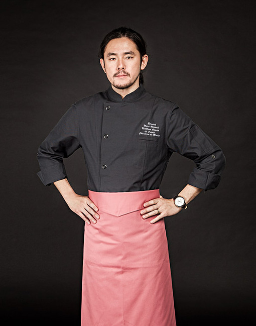 british organic chef coat charcoal #AJ1646