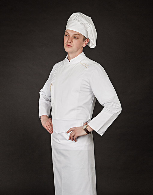 edin chef coat white #AJ1647