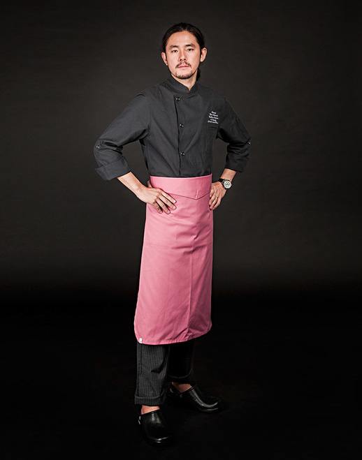 v-folding apron light pink #AA1660