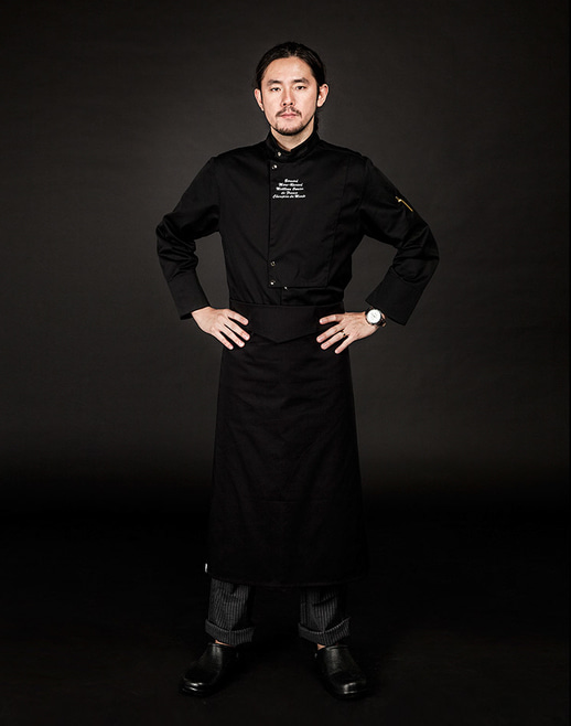 v-folding apron black #AA1662