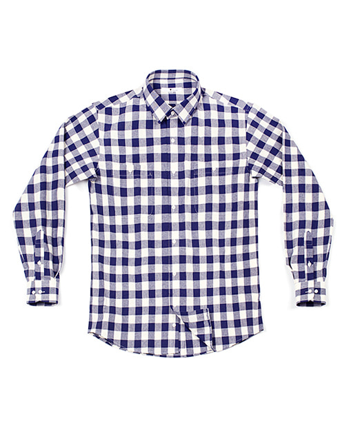 benathan check shirt white & blue #AS1694