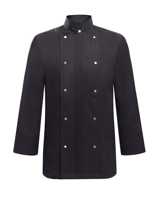 pin tuck wrinkle chef coat black #AJ1731