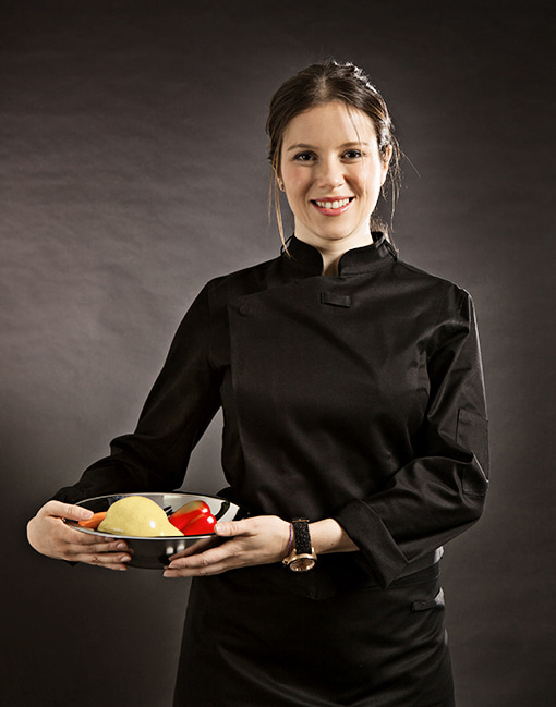 Slim Chef Jacket (Black) Women #AJ1455