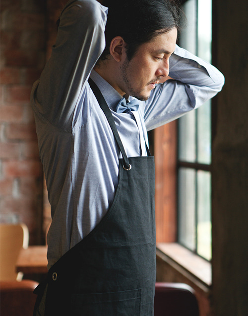 Canvas Basic Apron Black #AA1304