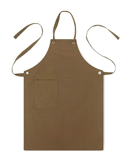 canvas basic apron brown #AA1305