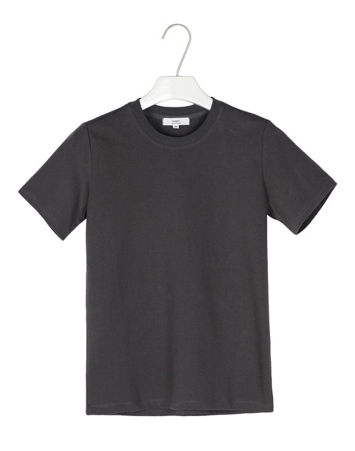 Basic cotton round 1/2tee #AT1863darkgrey