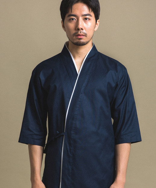 #AJ1866 Aka Sushi Chef Coat Navy