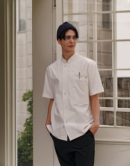 lamant stretch chef coat #AJ1967 white